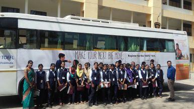 Aspirants leaving the TOEFL van at Valia Koonambaikulathamma College of ...